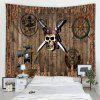 Woodgrain Pattern Creative Bedroom Tapestry - MULTI-A
