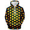 Men's Hoodie 3D Round Print - BEAN RED