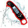 Waterproof Digital Kitchen Electronic Probe Type Thermometer - RED