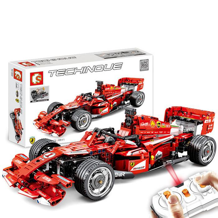 Car with Motor Building Blocks