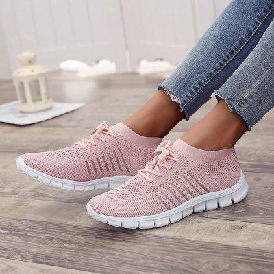 Women's Sneakers Flying Woven Breathable Non-slip Sole