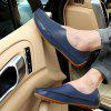Men's Ultra Light Arch Bow Hole Breathable Casual Shoes Solid Color - BLUE