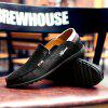 Men's Leather Shoes Large Size Ultra-light Casual Comfortable - BLACK