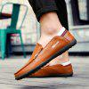 Men's Leather Shoes Large Size Ultra-light Casual Comfortable - BROWN