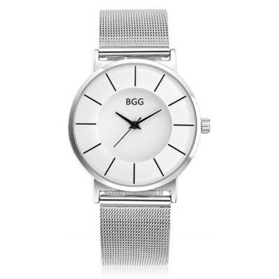 BGG K0003 Women's Simple Stainless Steel Mesh Belt Fashion Quartz Watch Waterproof