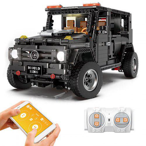 Gearbest Mould King 13070 RC Off-road Car Building Blocks - Black with Light 1640pcs