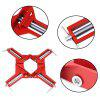 Pince à Angle Droit de 90 Degrés 100mm Support de Photo Verre DIY de Menuiserie 4pcs - ROUGE