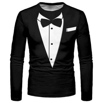 Men Creative Long Sleeve T-shirt