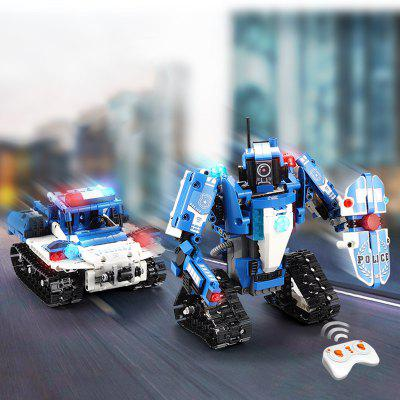 CaDA C51049W Police Robot Car 2 w 1 Building Blocks 526PCS
