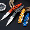 Outdoor Camping Hiking Survival Picnic Portable Folding Knife - ASH GRAY