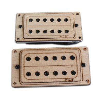 Maple Black Inside 6 Corner Nut Core Double Pickup