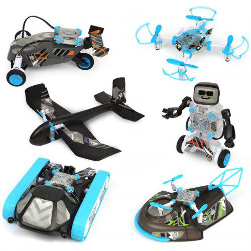 Gearbest DIY 6-in-1 Modular STEM Education Smart Toy Kit - Multi Glider / Robot / Tank / Hovercraft / Racing Car / RC Drone