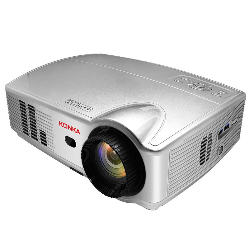 KONKA PS3 LCD Home Business Entertainment Projector - White EU Plug
