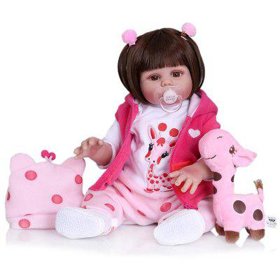 NPK 1733 Simulation Silicone Reborn Baby Girl Doll Toy