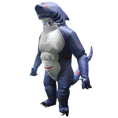 Adult Shark Inflatable Clothing with Blower Halloween Party Costume