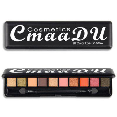 Cmaadu ME0077 Eye Makeup 10 Colors Eyeshadow with Brush