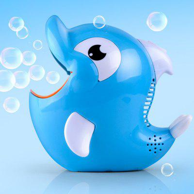 Electric Dolphin Shaped Bubble Machine Toy with Music