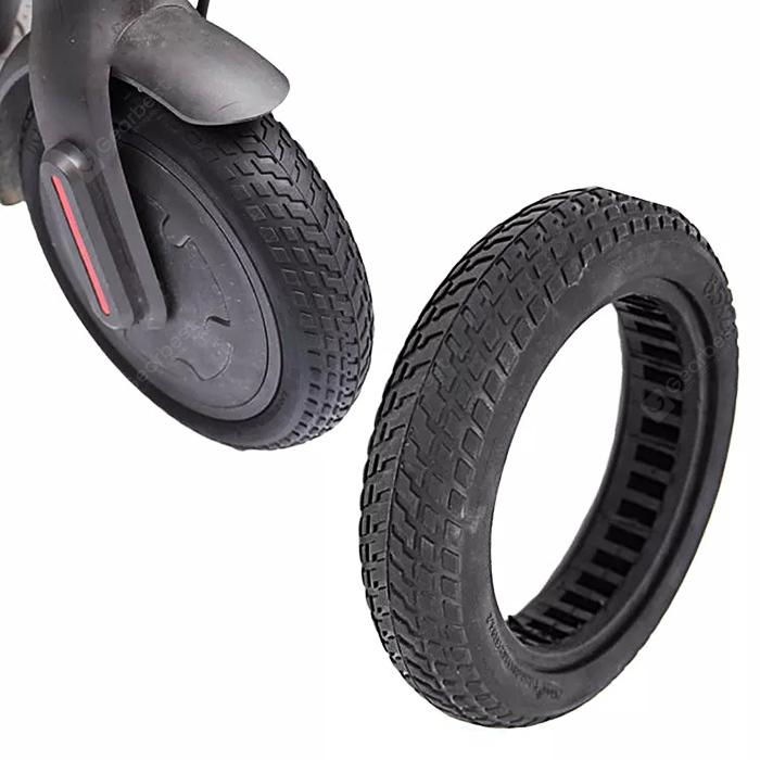 gocomma Rubber Tire for Xiaomi M365 Electric Scooter - Black