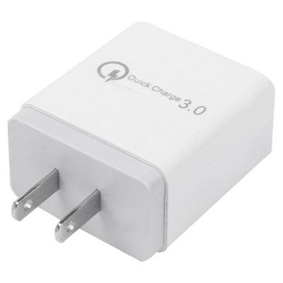 QC3.0 3 USB AC100 - 240V US Plug Fast Charger adaptér
