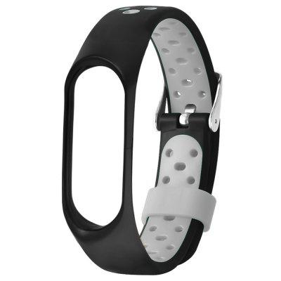 TAMISTER Buckle Type Two-color Anti-lost Replacement Strap for Xiaomi Band 4