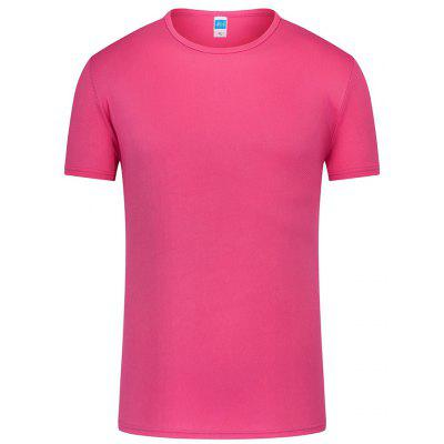 Men's Quick Dry T-shirt Outdoor Running Short Sleeve Breathable Casual