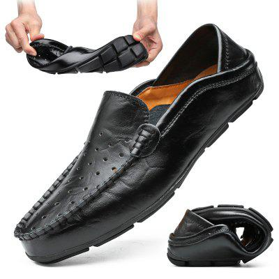 Men's Large Size Breathable Hollow Out Slip-on Shoes Soft