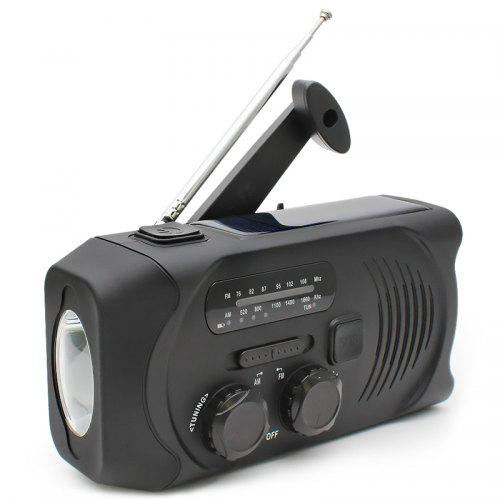 gocomma Solar Hand-cranked Radio Camping Light