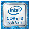 Intel i3 - 8100 quad-core quad-thread CPU-processor - ZILVER