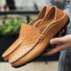 Men's Large Size Breathable Hollow Out Slip-on Shoes Soft - BEE YELLOW