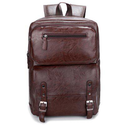 Men's Backpack Crazy Horse Leather Retro Fashion Large Capacity