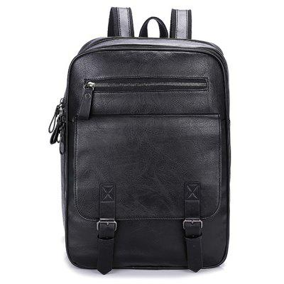 Men's Backpack Fashion Large Capacity Retro Crazy Horse Leather
