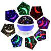 brelong Music 360 Degree Rotating Bluetooth Star Night Light - BLU