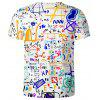 Men's T-shirt Formula Printed Loose Short-sleeved Round Neck - MILK WHITE