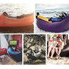 Square-headed Air Inflatable Travel Lazy Sofa - PURPLE