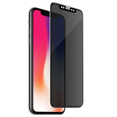 ASLING Film Trempé Anti-spy 3D de Plein Ecran pour iPhone X / XS