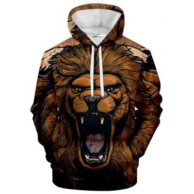 gearbest.com - Men's Hoodie Lion Print with Hood