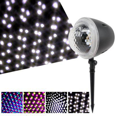 W908 - 1 AC85V - 240V 5W LED effekt Stage Snow Crystal Magic Ball Light