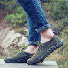 AILADUN Men's Mesh Fabric Slip-on Casual Shoes Ultra Light Breathable - ARMY GREEN