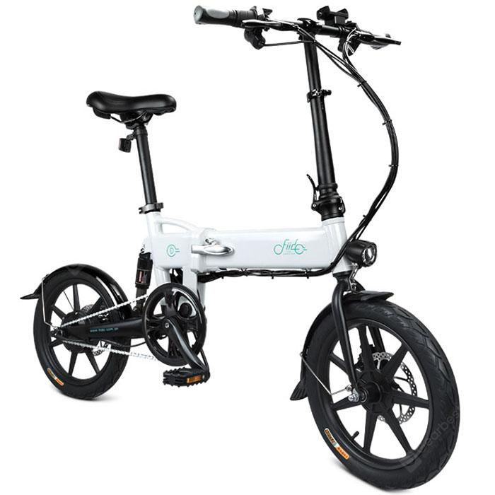 FIIDO D2 Folding Moped Electric Bike E-bike - Milk White