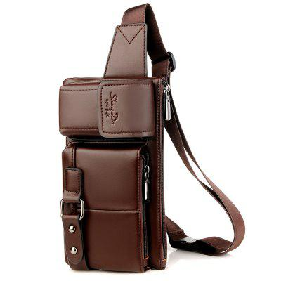 Men's Waist Bag High Quality Leather Fashion Multi-pocket
