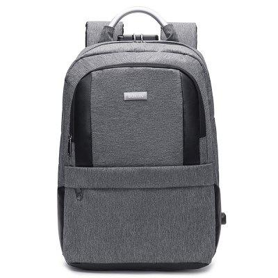 Men's Backpack Waterproof Nylon Business Casual with USB Port 15.6-inch Laptop Bag