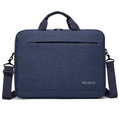 Men's Crossbody Bag Solid Color Nylon Fabric Business Casual 15.6 inch Notebook Carrier