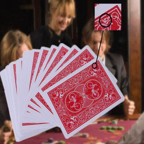 Gearbest Marked Poker Card Magic Toy 54pcs - Red