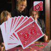 Marked Poker Card Magic Toy 54pcs - RED