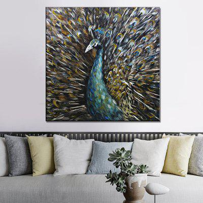 07728 HD Hand-painted Animal Oil Painting with Frame