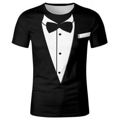 Men's T-shirt Short-sleeved Suit Printing Creative