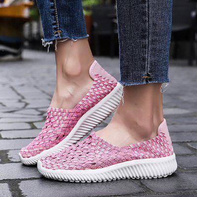 Women's Creative Breathable Weave Casual Shoes Super Light
