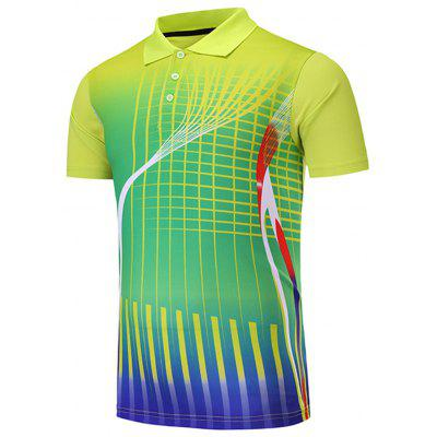Men's T-shirt Printing Sports Quick-drying Breathable Slim Short Sleeve