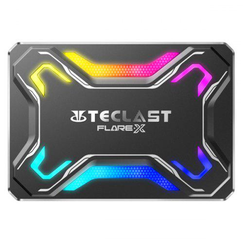 Gearbest Teclast FLARE·X F600 2.5 inch SATA RGB Solid State Drive - Black 240GB 453562501 Original 3D NAND / Unique Appearance Design / FLARE Breathing Effect