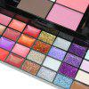 74 Colors Eyeshadow Lip Gloss Foundation Cream Glitter Sequins Makeup Set - BLACK